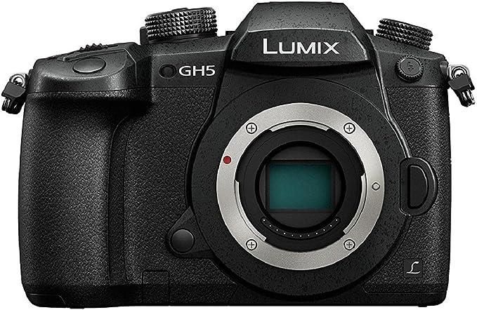 Panasonic Lumix Appareil photo Hybride Pro Vidéo DC-GH5EF-K (Capteur 4/3 20MP, Double stab., Viseur OLED, Écran orient. tact., AF DFD, 4K60p/C4K24p/4:2:2 10bit, Tropicalisé) Noir – Version Française