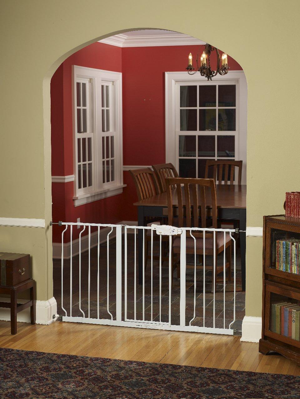 gate walk through extra wide baby child pet dog safety. Black Bedroom Furniture Sets. Home Design Ideas