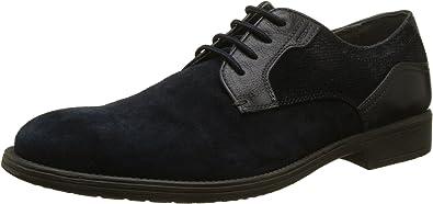 Geox U Jaylon E, Zapatos de Cordones Derby para Hombre, Azul (Navy), 42 EU