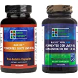Green Pasture Bundle - Blue Ice Skate Liver Oil and Royal Butter Oil/Fermented Cod Liver Oil Blend 120 Capsules Each