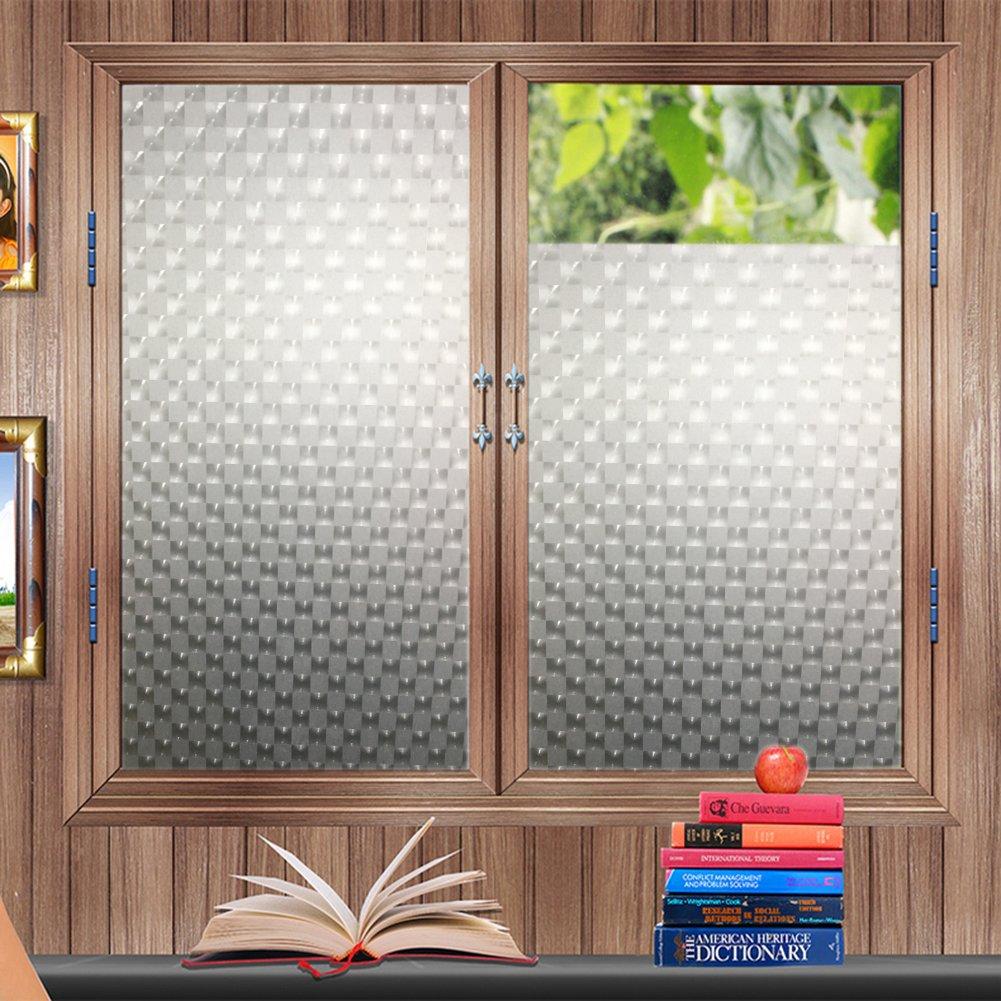 (Square type, 90 200cm)3D Protective Window Film, Sinbury Static Privacy Film Non-adhesive Heat Control Anti UV B073FH8XMT 35.5*78.7inch|Square type Square type 35.5*78.7inch