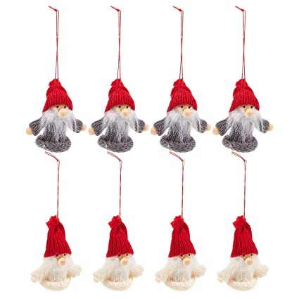 juvale 8 pack of miniature christmas ornaments rustic christmas decorations wood shapes