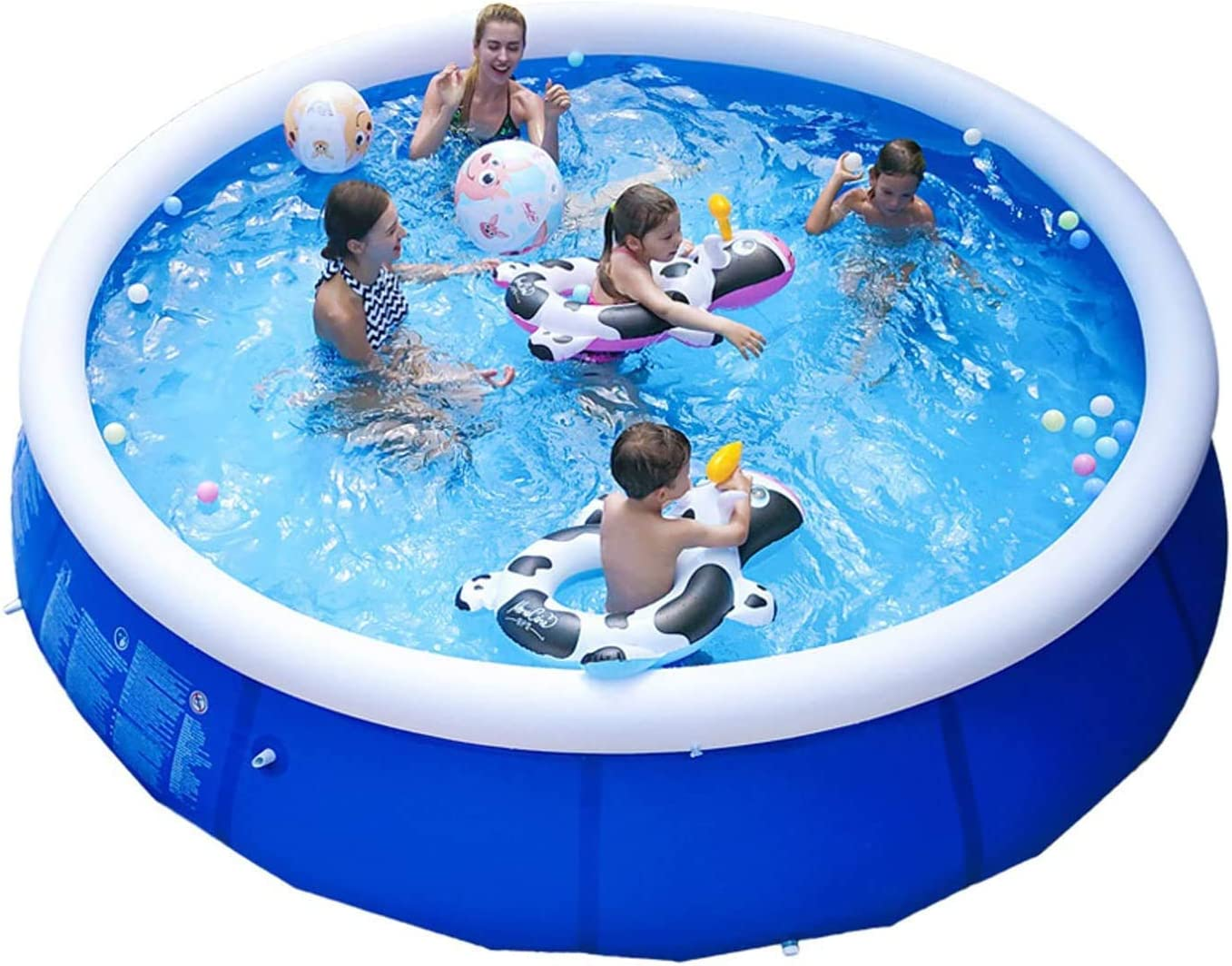 GANENN 【DHL DELIVERY】 2020 New Swimming Pool Family 180 cm x 73 cm A: 1-2 People: 6 feet x 29 in Extra Large Quick Set Inflatable Above Ground Swimming Pool with Filter Pump for Kids /& Adults
