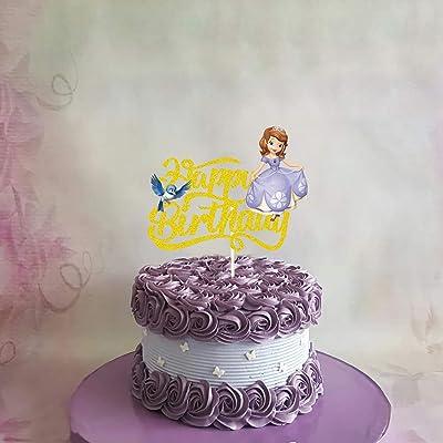 2 Round Disney Princess Sofia The First Birthday Edible Image Cake Cupcake Topper Amazon Com Grocery Gourmet Food