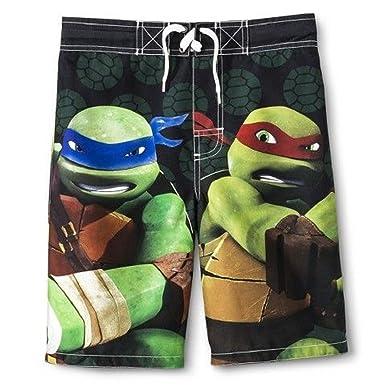 3b306e6360b97 TMNT Teenage Mutant Ninja Turtles Boys' Swimwear Board Shorts Swim Trunks (Small  6-