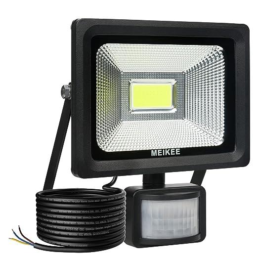MEIKEE 20W LED Strahler mit Bewegungsmelder 2000 LM superhell LED Fluter IP66 wasserdicht Außenstrahler Flutlichtstrahler Sch