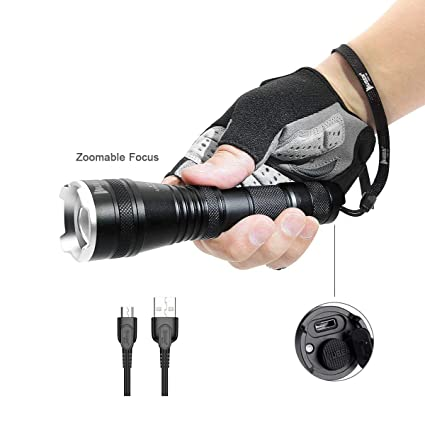 Ledeak T6 Upgrade L2 CREE,1200 Lumens LED Torch,5 Modes Zoomable Waterproof USB