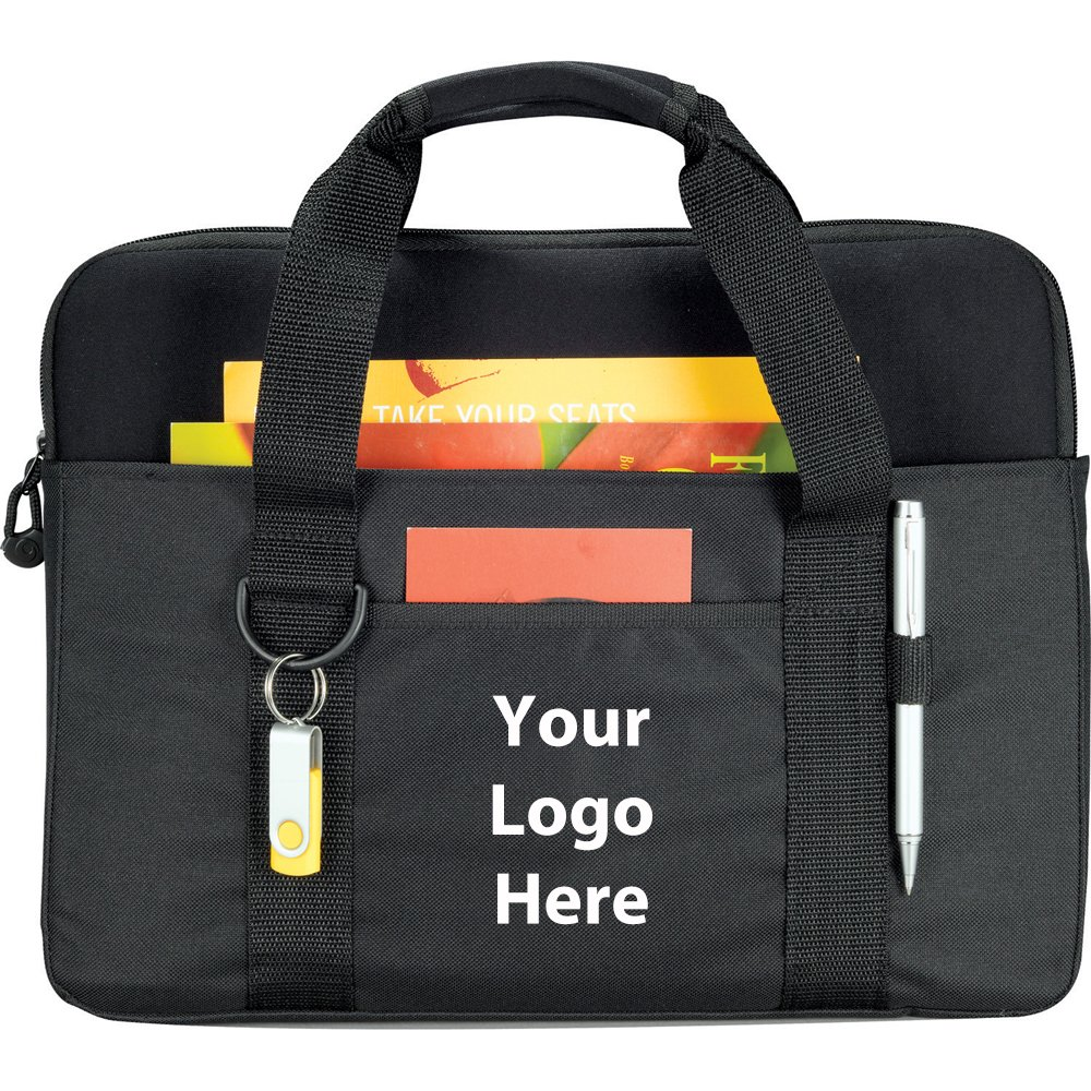 Tuck 15'' Computer Briefcase With Laptop Sleeve - 48 Quantity - $8.65 Each - PROMOTIONAL PRODUCT / BULK / BRANDED with YOUR LOGO / CUSTOMIZED