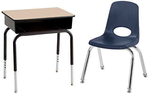 Pleasing Ecr4Kids Open Front Desks With Metal Book Box And 12 School Ncnpc Chair Design For Home Ncnpcorg