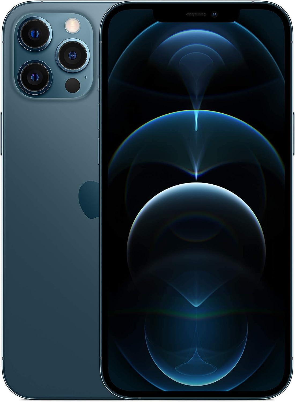 Apple iPhone 12 Pro Max, 256GB, Pacific Blue - Fully Unlocked (Renewed)