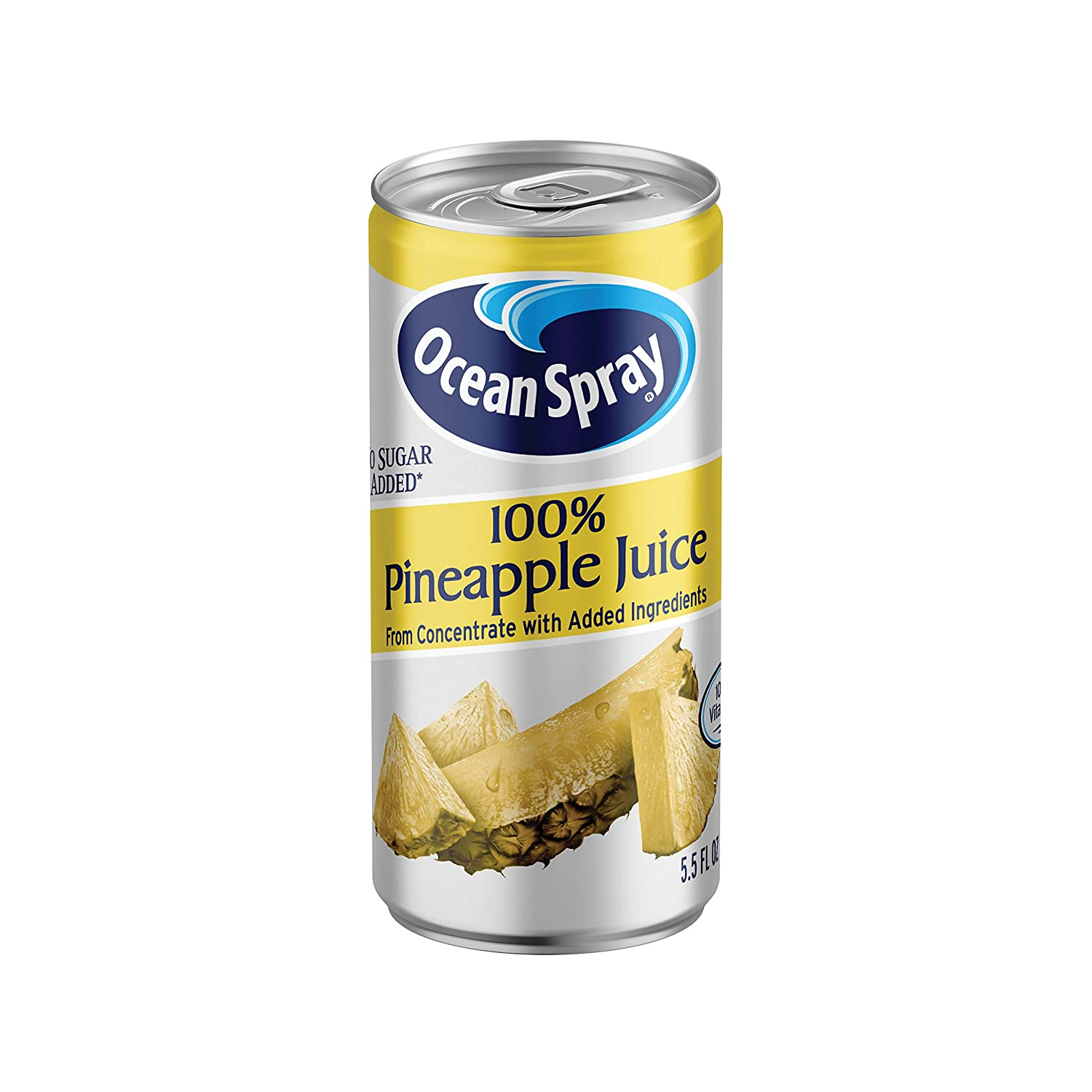 Ocean Spray 100% Pineapple Juice Mini Cans, 5.5 Ounce (Pack of 48)