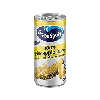 Ocean Spray 5.5 Ounce Cans 100% Pineapple Juice