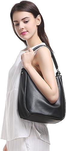 hobo International  leather shoulder bag   tote   off-white  grey  metal detail   detachable double straps  everyday bag