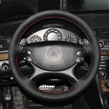 MEWANT Negro de Piel Funda para Volante para Mercedes Benz W211 ...