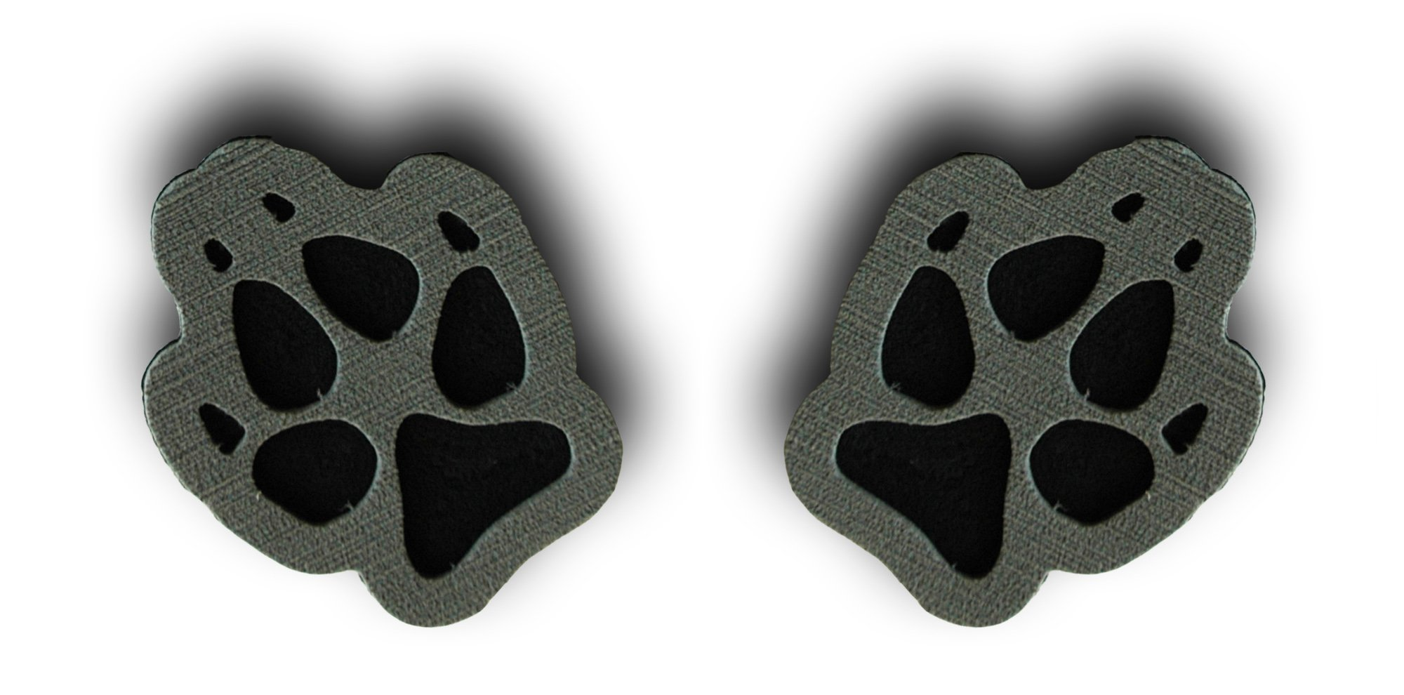 Toejamr Snowboard Stomp Pad - 2 Puppy Paws - Gray