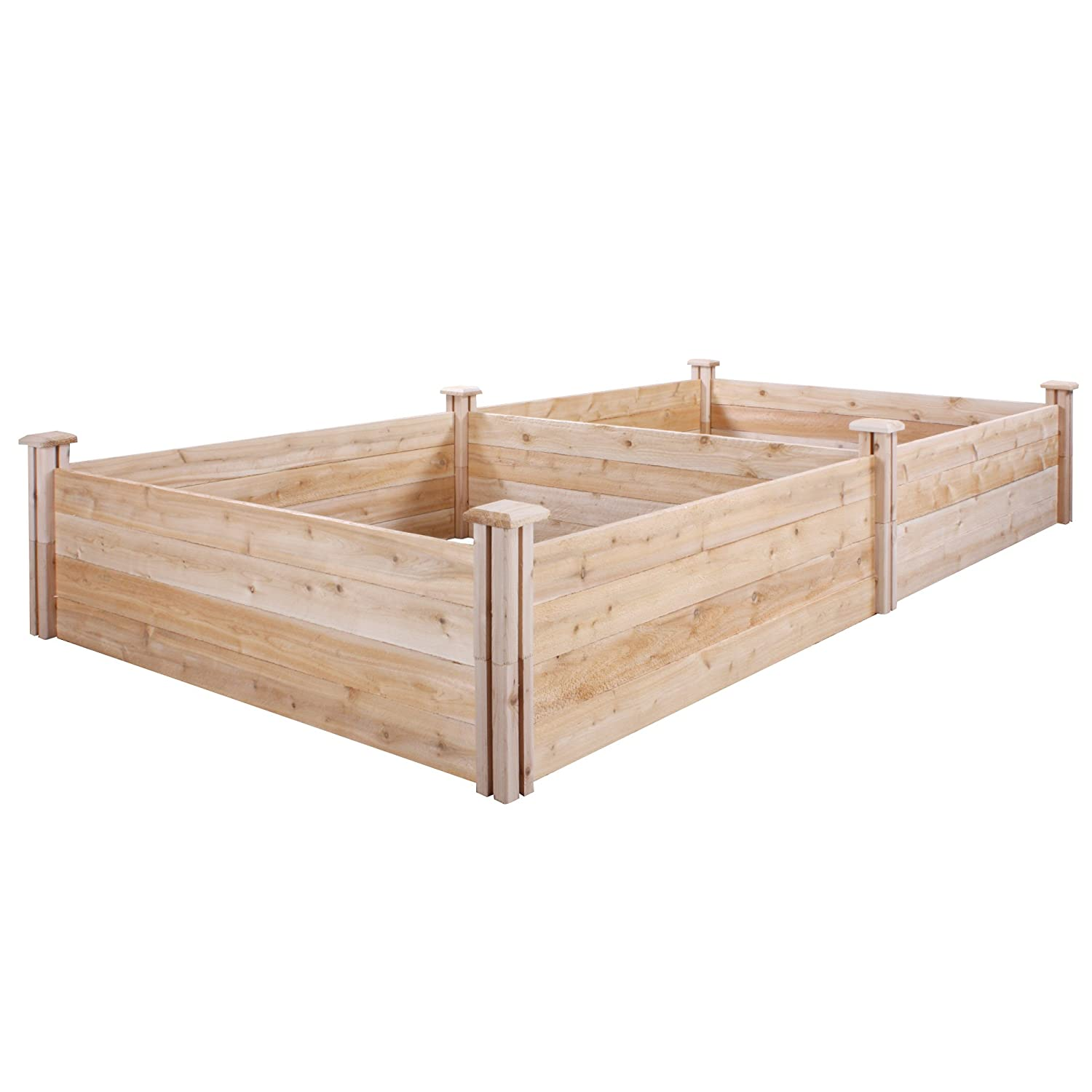 dovetail two tiers beds fence p bed raised the garden greenes