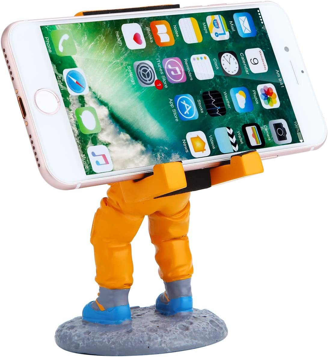 Color : White Mobile Phone Stand for iPhone X//XS Practical Spaceman Pattern Mobile Phone Stand Holder Resin Bracket for Smart Phone Mobile Phone Holder BLWX Cell Phone Stand