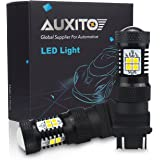 AUXITO Xenon White 3056 3057 3156 3157 4157 3030 Chipset SMD LED Bulbs with Projector for Car Tail Brake Light Backup Reverse Turn Signal Lights (Pack of 2)