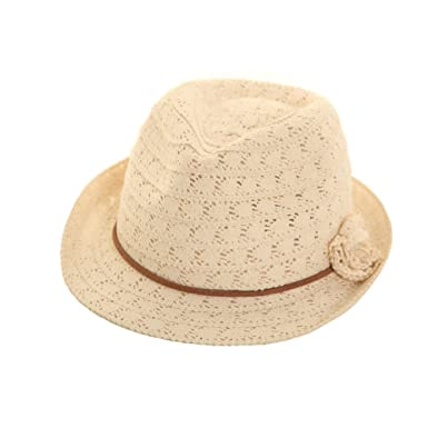 Ladies Womens Lace Crushable Trilby Summer Sun Hat With Band And ... 04d8b5cbe83
