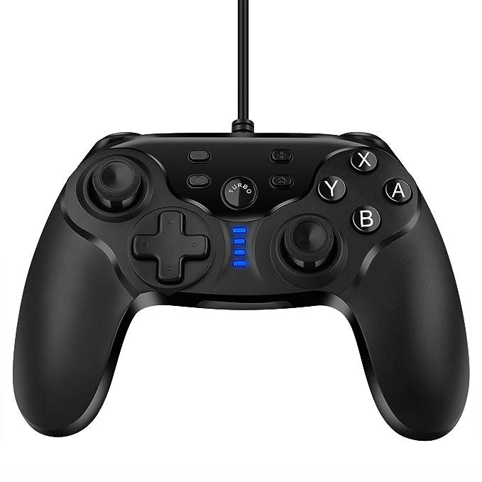 Nintendo Switch Controlador de Gamepad, ELTD Mando Juego Controlador de Gamepad con cable para Nintendo Switch & PC (Windows XP/WIN 7/WIN 8/WIN 10): ...