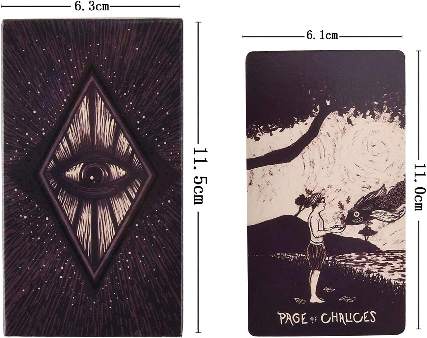 Jjwwhh Hot New Tarot Cards Permanent Destiny Divination Tarot Cards 78 Pieces Light Visions Tarot Cards with Beautiful Paintings for Family Party and Entertainment