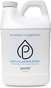 PUREFY Anti-Allergen Spray (68oz), Hypoallergenic. Eliminate Allergens and Odor. Baby Safe. Unscented. No Residue. Asthma & Allergy Safe for babies and pets. Allergen Reducer Spray for Healtheir Life!