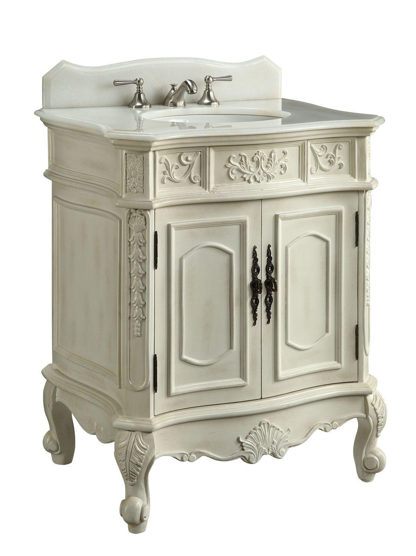 ... Antique White Finish Bathroom Vanity | Source: bathroomstrends.com ·  30.75 - Antique White Bathroom Vanity Antique Furniture
