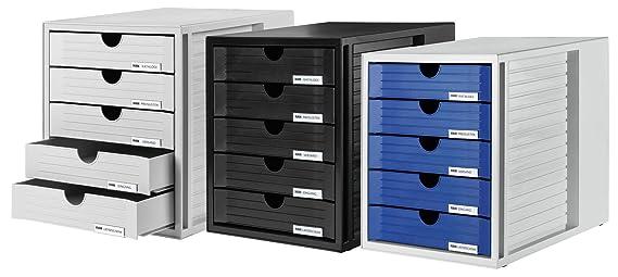 HAN 1450-11 - Cajonera para archivadores, gris: Amazon.es: Oficina y papelería