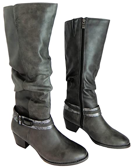 Marco Tozzi Size 8 Women's 2-25506-25 229 Synthetic Leather Knee High  Boots: Amazon.co.uk: Shoes & Bags