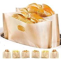 Bolsa tostadora antiadherente, fácil de limpiar, reutilizable y resistente al calor, libre de gluten y sin PFOA aprobada…