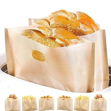Bolsa tostadora antiadherente, fácil de limpiar, reutilizable y resistente al calor, libre de gluten y sin PFOA aprobada por la FDA, para pasteles de ...