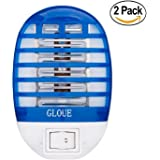 GLOUE Bug Zapper Electronic Insect Killer,Mosquito Killer Lamp,Eliminates Most Flying Pests! Night Lamp Two Pack