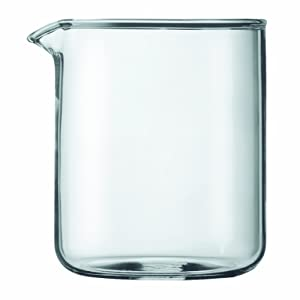 Bodum Spare Beaker For French Press Coffee Maker, 0.5 Liter, 17 Ounce, (4 Cup)
