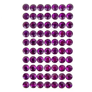 Homeford round adhesive diamond gem stickers 12mm violet
