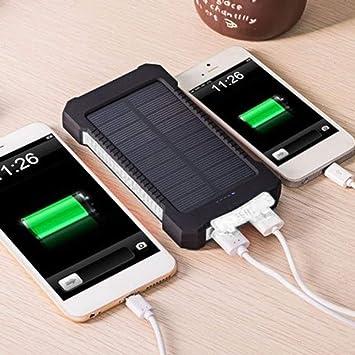 Dailyinshop Cargador de batería Solar portátil Dual del USB Banco de energía Solar Universal para el teléfono