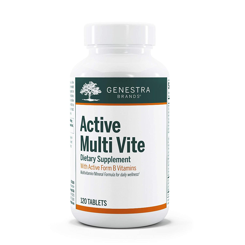 Genestra Brands - Active Multi Vite - Broad Spectrum Vitamin-Mineral Supplement - 120 Tablets