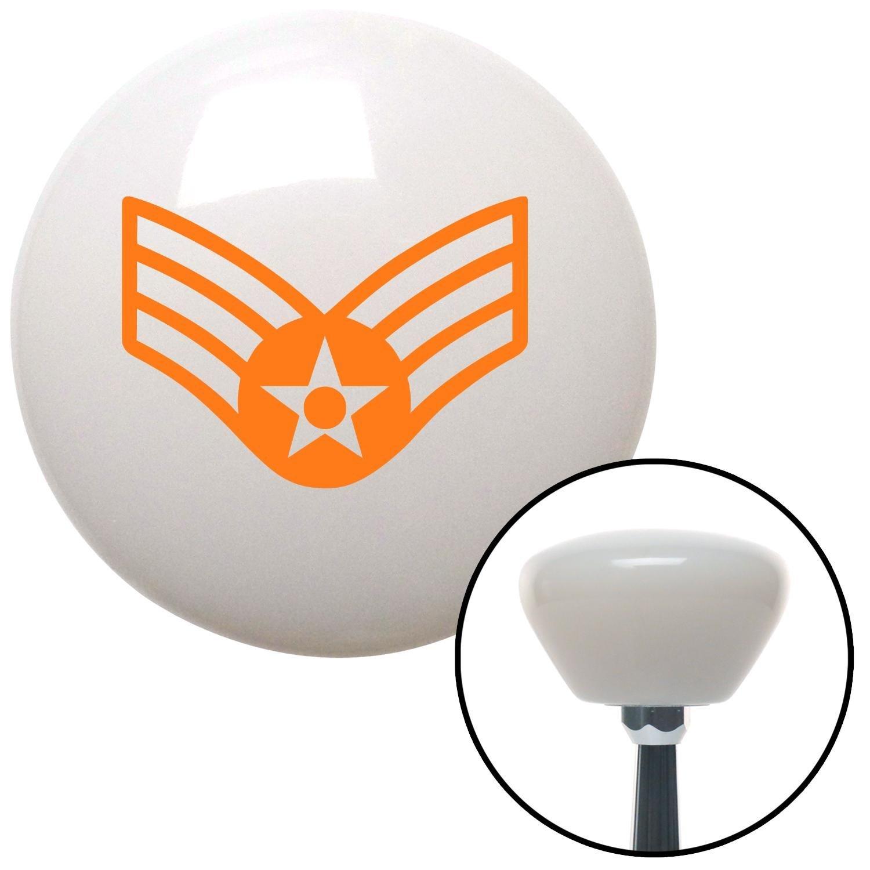 Orange Senior Airman American Shifter 154441 White Retro Shift Knob with M16 x 1.5 Insert