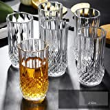 PrimeWorld Crystal Spark Touch Seamless Water Juice Glass Set of 6 Pcs