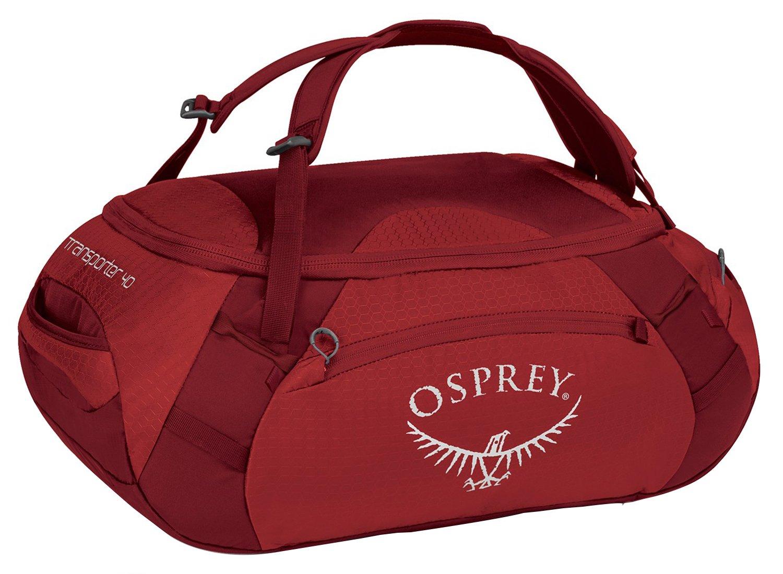 Amazon.com: Osprey Transporter Travel Duffel Bag, Hoodoo Red, 40 ...