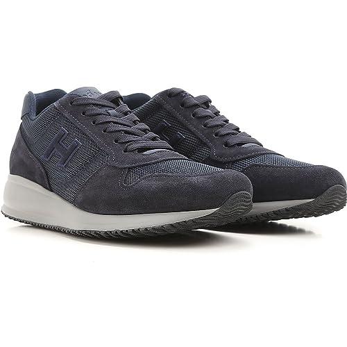 Hogan Sneaker Interactive N20 HXM2460Y790H160071 Blu Uomo 9  Amazon ... eb608712e3a