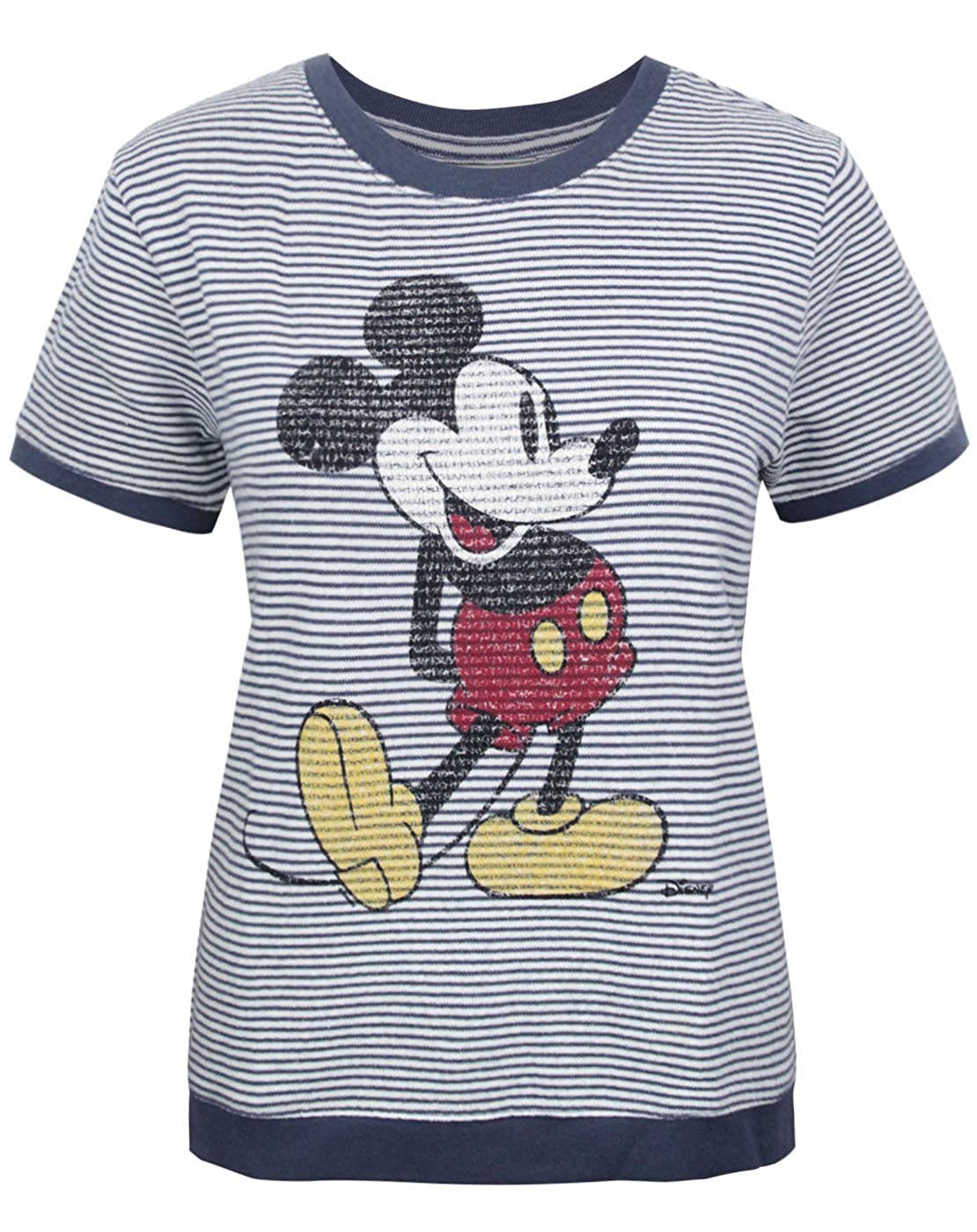 Junk Food Mickey Mouse Women's Short Sleeve Sweater Junk Food Clothing