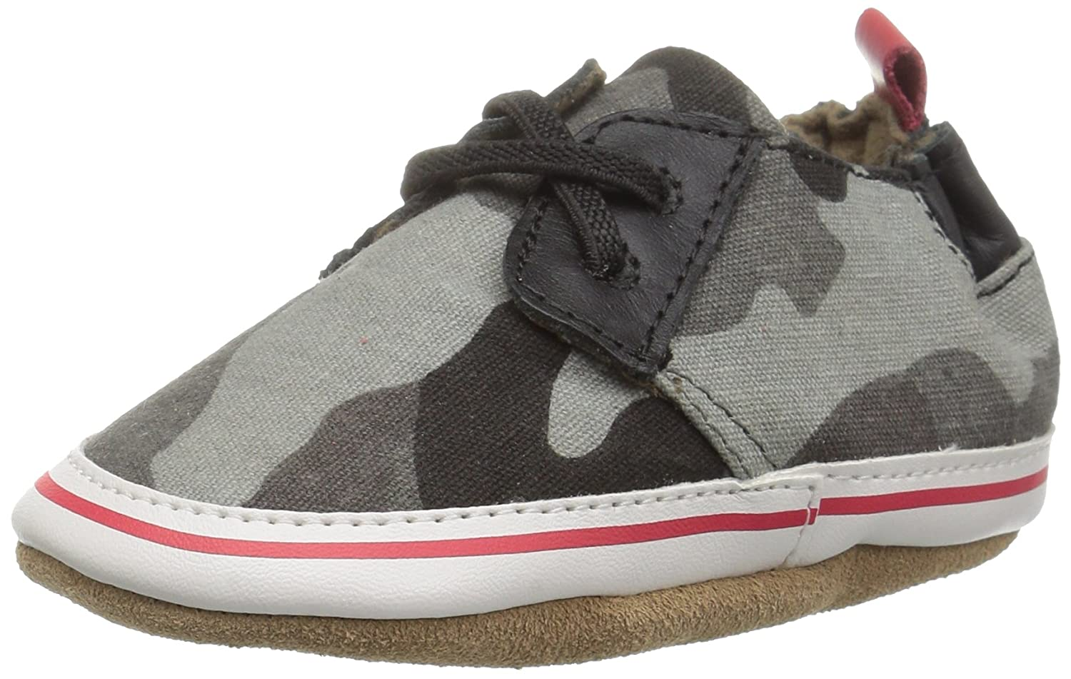 Robeez Stylish Steve Soft Sole Crib Shoe (Infant) Stylish Steve - K