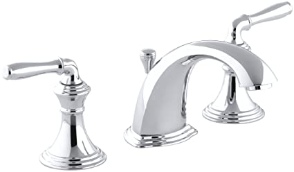KOHLER KCP Devonshire Widespread Lavatory Faucet Polished - Kohler devonshire bathroom sink faucet