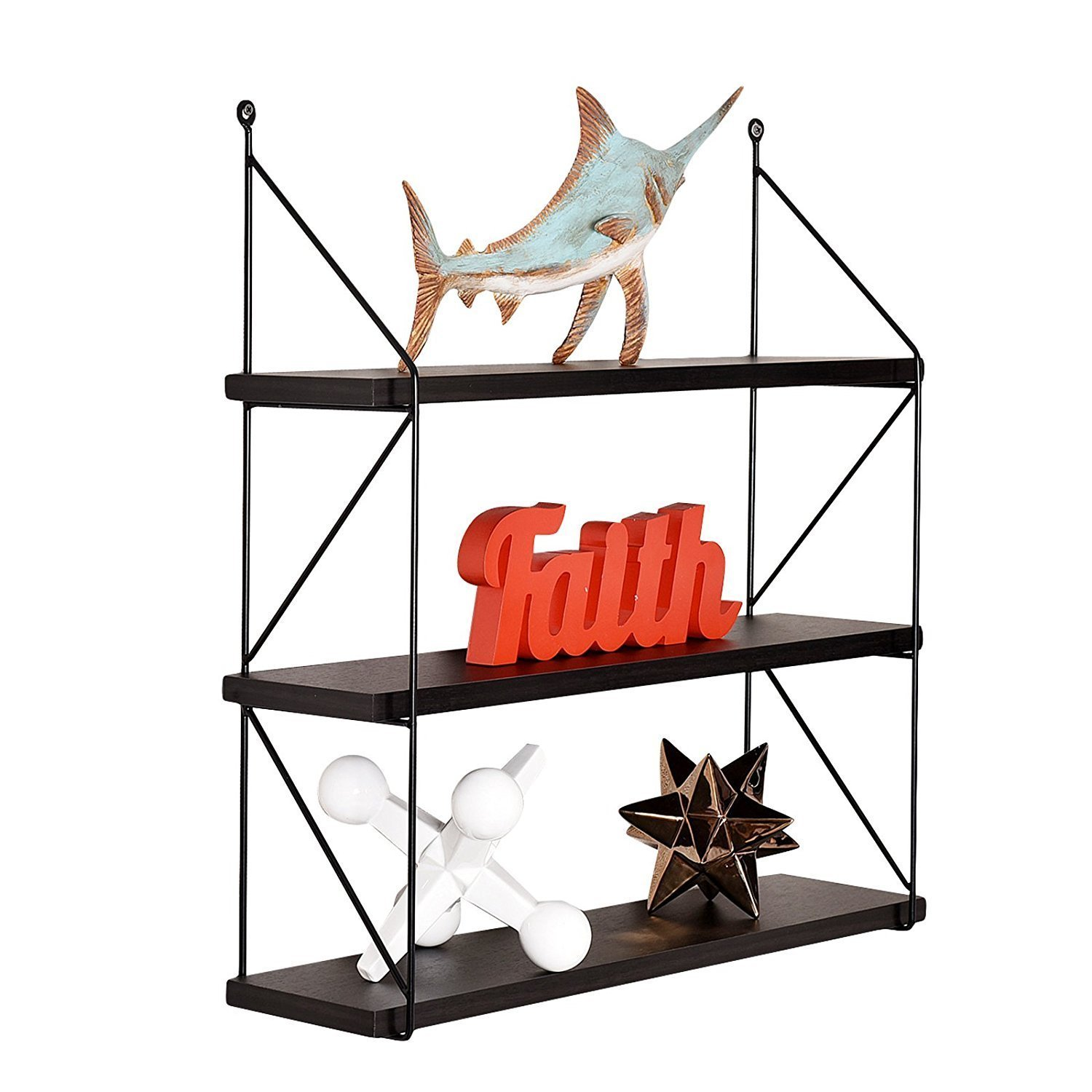 welland 3tier display wall shelf storage rack wall rack holder rack espresso