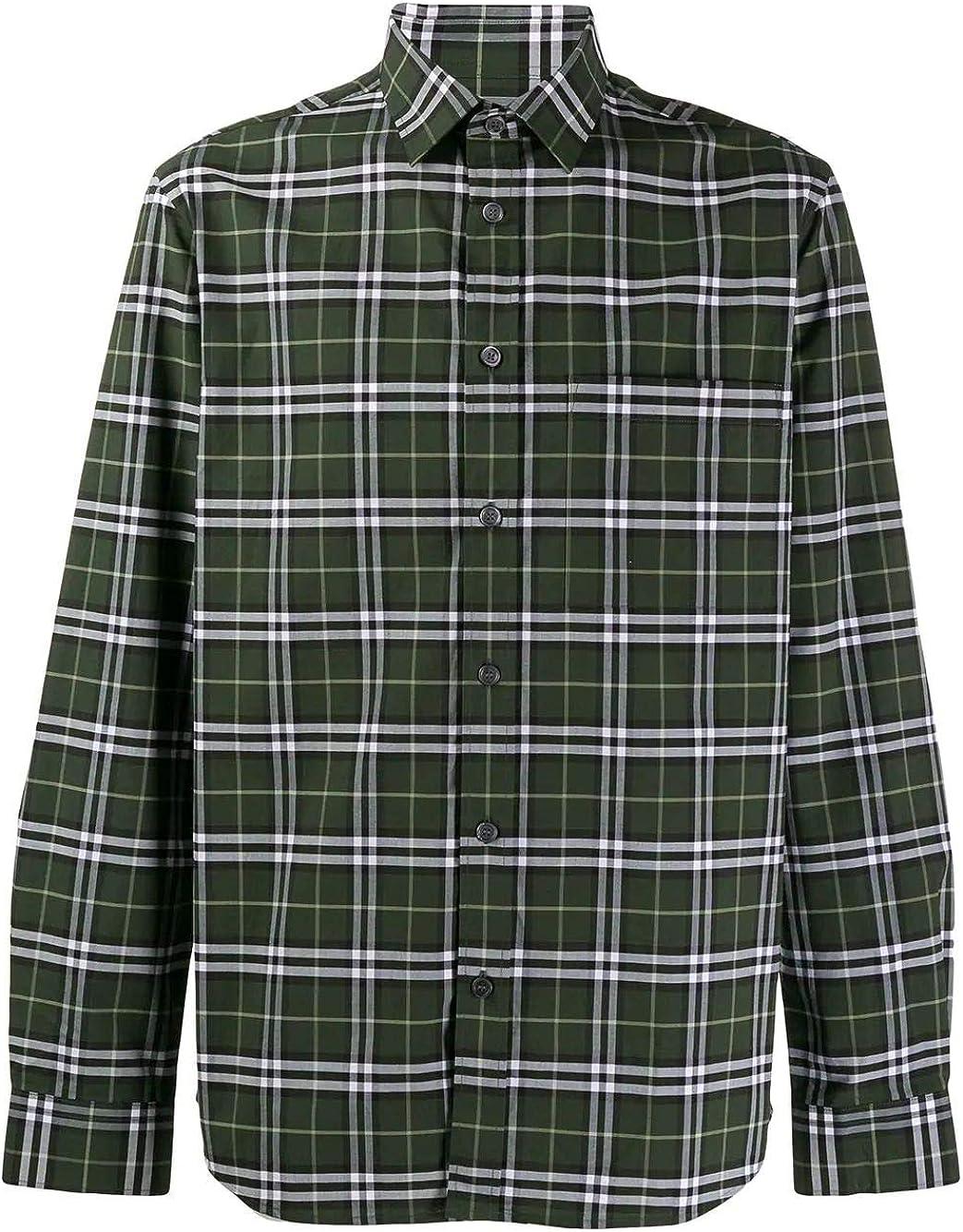 Burberry Camisa Hombre 8017566 algodón Verde Verde L: Amazon.es: Ropa y accesorios