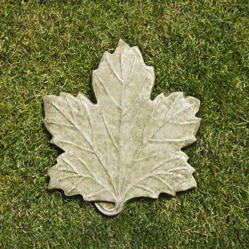 Campania International E-113-EM Maple Leaf Step Stone, English Moss Finish by Campania International