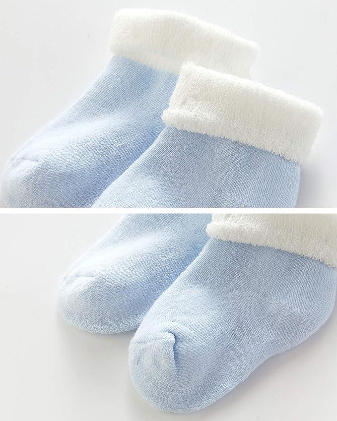 Adorel Calcetines Invierno de Rizo para Beb/é Ni/ña Lote de 5