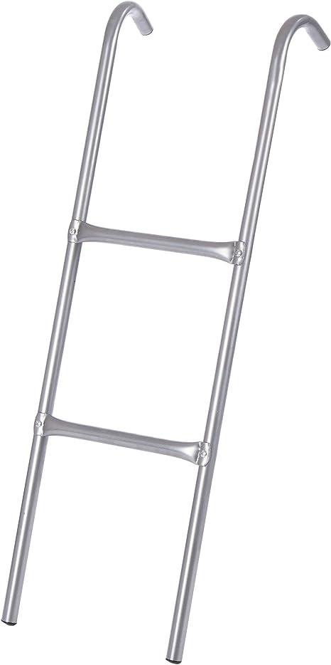 Ultrasport Escalera para cama elástica, estable para trampolín, 2 escalones, escalera de acero para colgar, accesorio compatible con camas de diámetro 305, 366 y 430 cm: Amazon.es: Deportes y aire libre