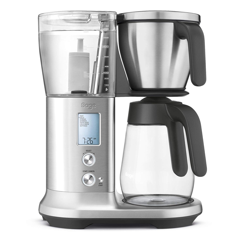 Sage Appliances Cafetera Eléctrica Glass, aspecto de acero ...