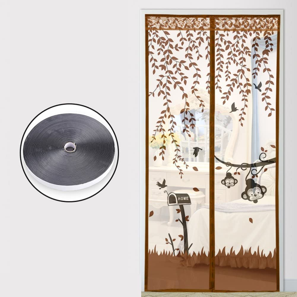 Anti-mosquito verano puerta de pantalla magnética,Completo marco Magic tape mute pantalla magnética puerta,Malla resistente Resistencia del viento Cifrado Inicio Puerta de pantalla suave-H 85x195cm(33x77inch): Amazon.es: Bricolaje y herramientas
